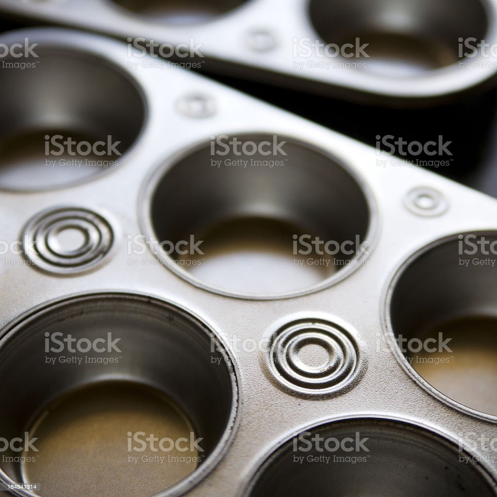 Cupcake Baking Sheet royalty-free stock photo