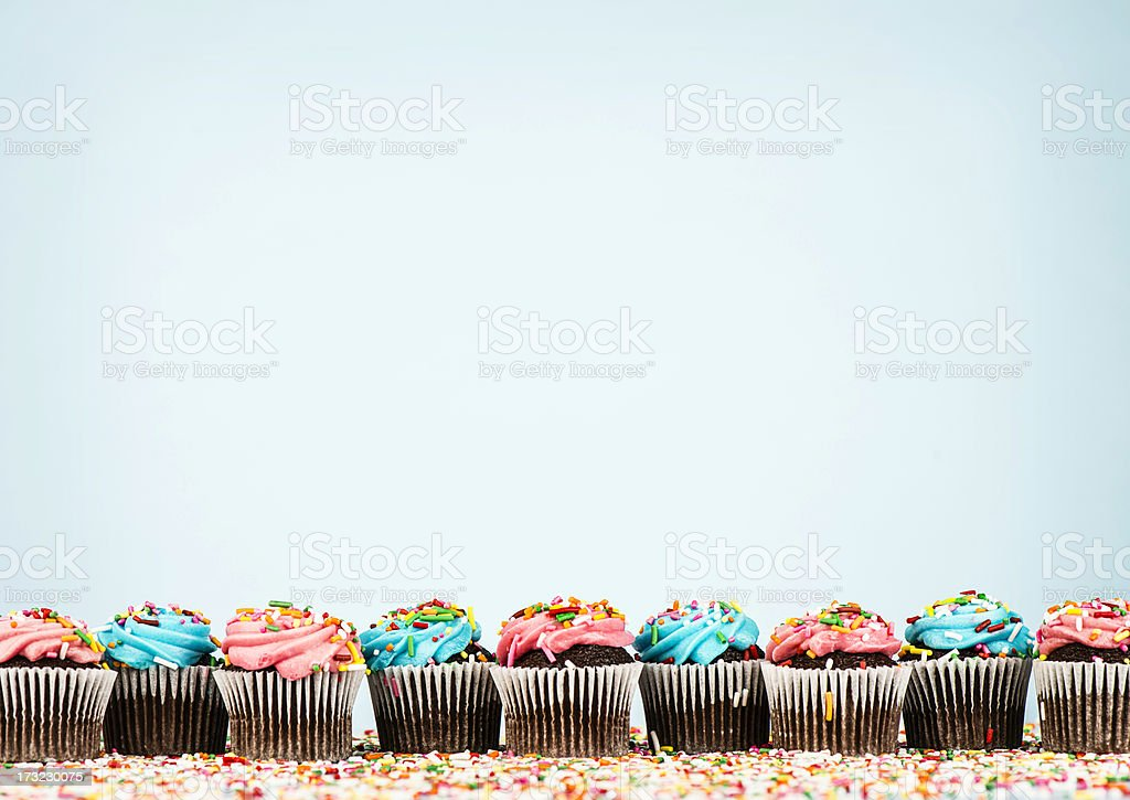 Cupcake Border stock photo
