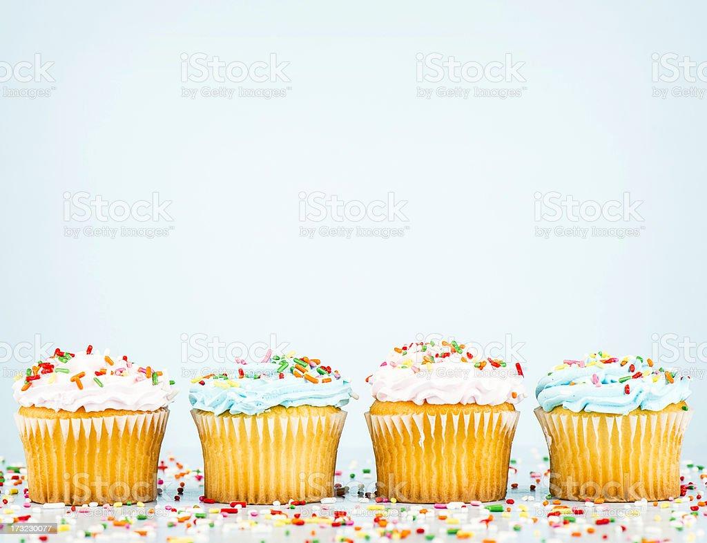 Cupcake Border stock photo