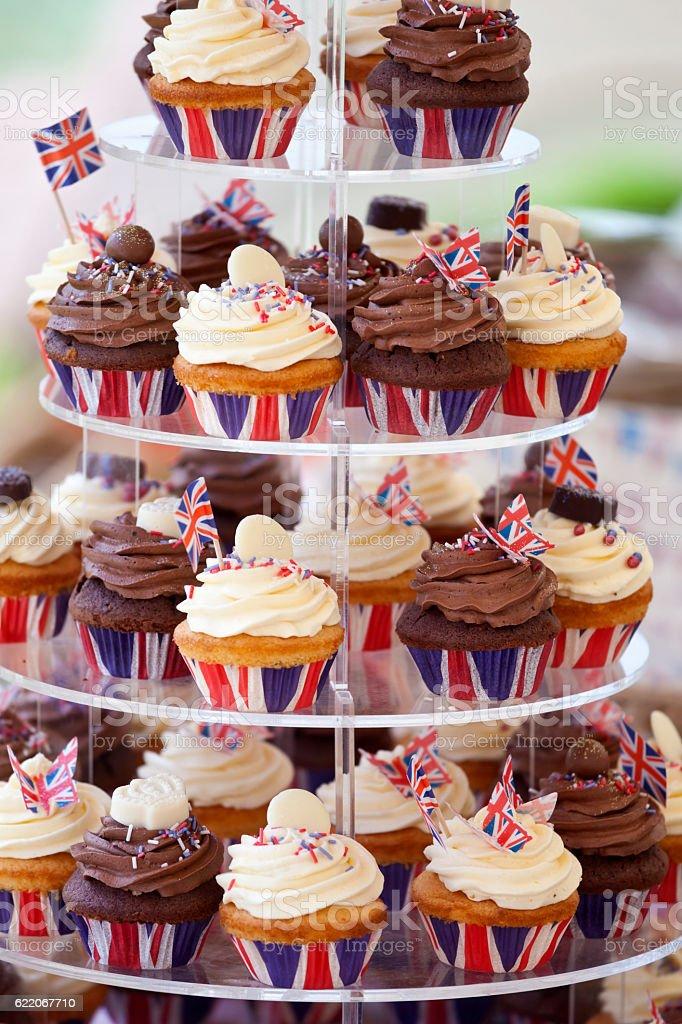 UK Cupcake Celebration stock photo