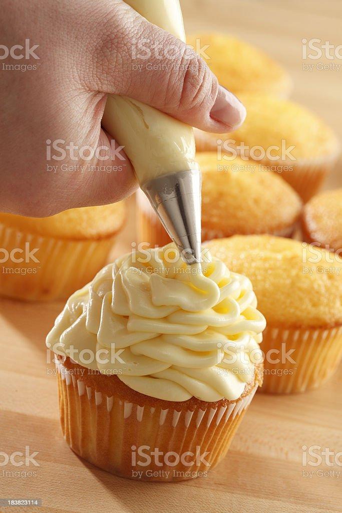Cupcake Decorating stock photo