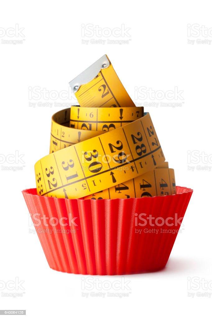 Cupcake diet stock photo