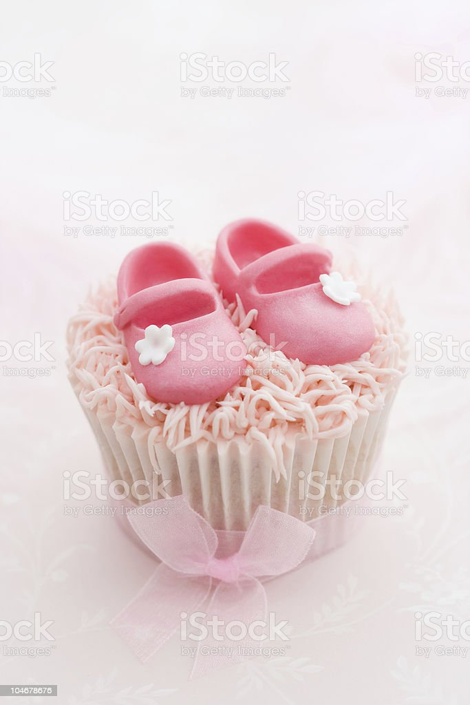 Cupcake for a little girl stock photo