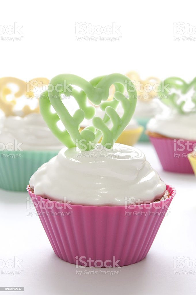 cupcake  for Valentine's Day royalty-free stock photo