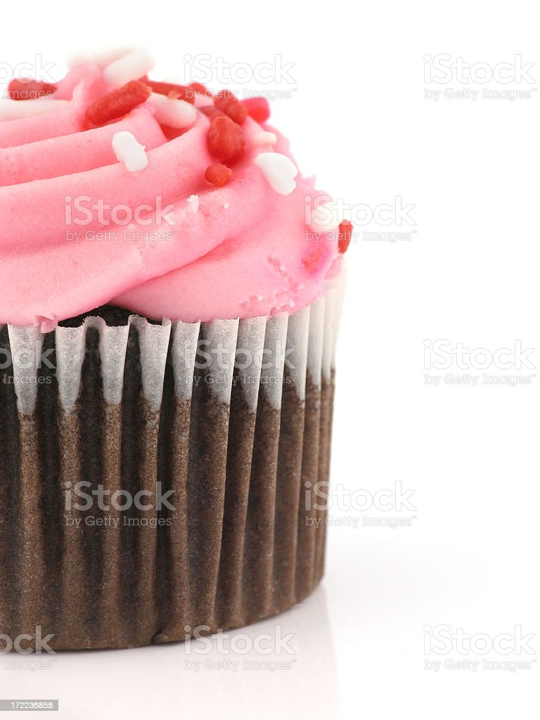 Cupcake Half royalty-free stock photo