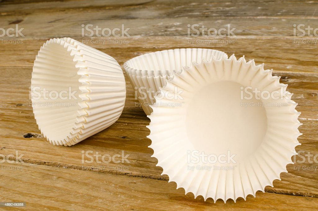 Cupcake liners stock photo