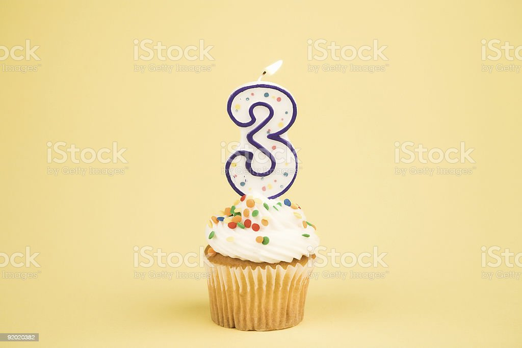 Cupcake Number Series (3) royalty-free stock photo