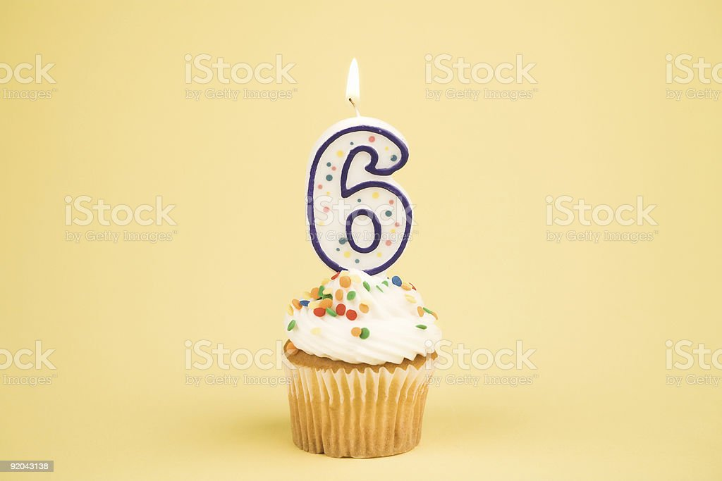Cupcake Number Series (6) stock photo