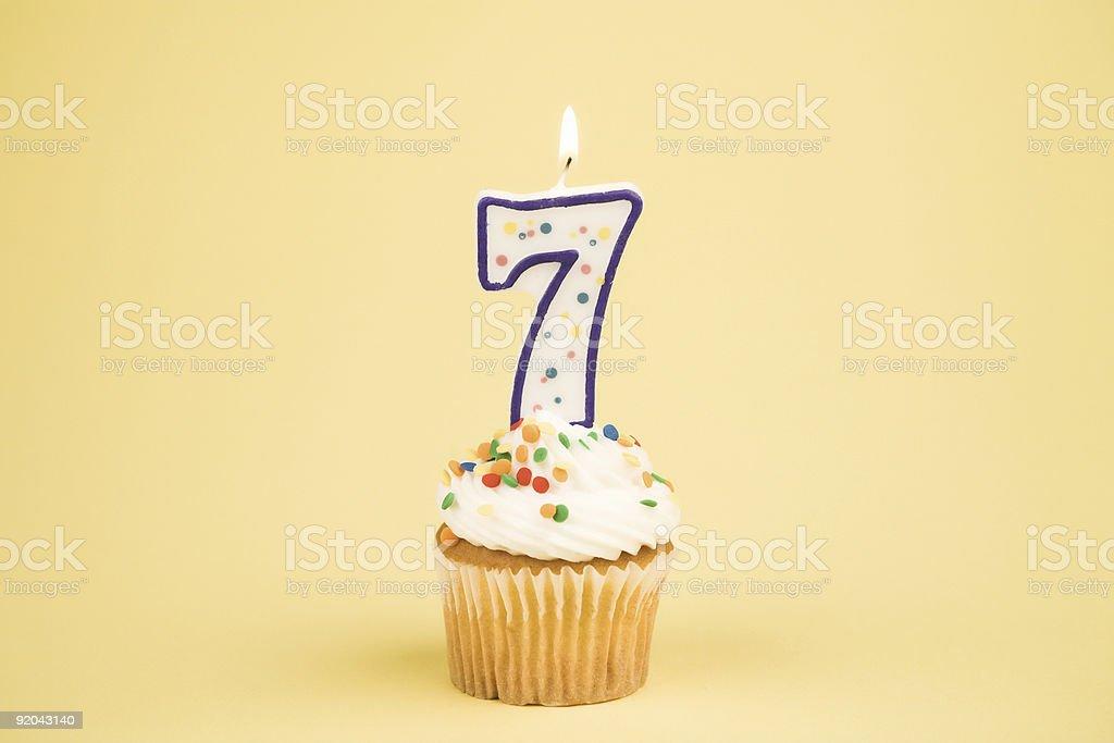 Cupcake Number Series (7) royalty-free stock photo