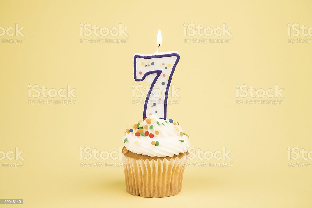 Cupcake Number Series (7) stock photo