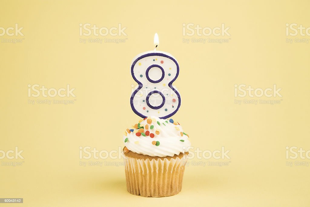 Cupcake Number Series (8) stock photo