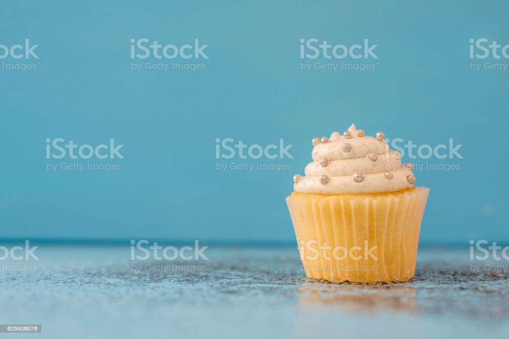Cupcake on New Year's stock photo