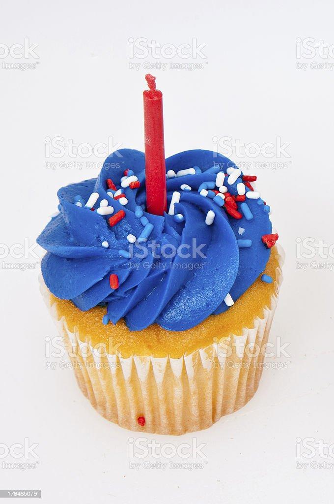 Cupcake on White royalty-free stock photo