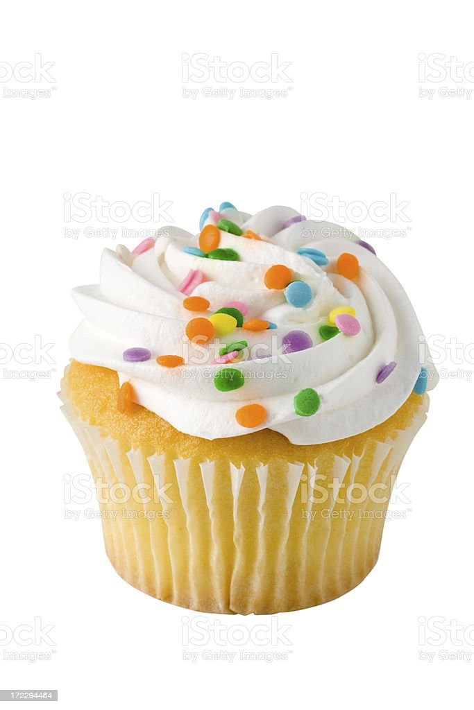 Cupcake on White with Clipping Path stock photo
