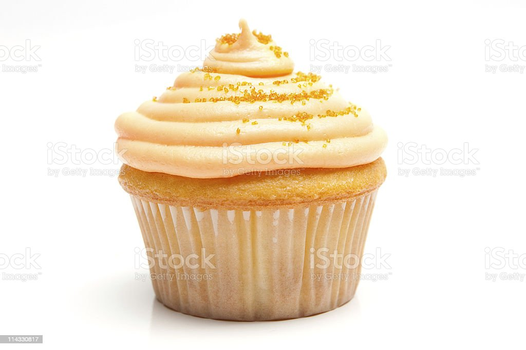 Cupcake Orange Cream royalty-free stock photo