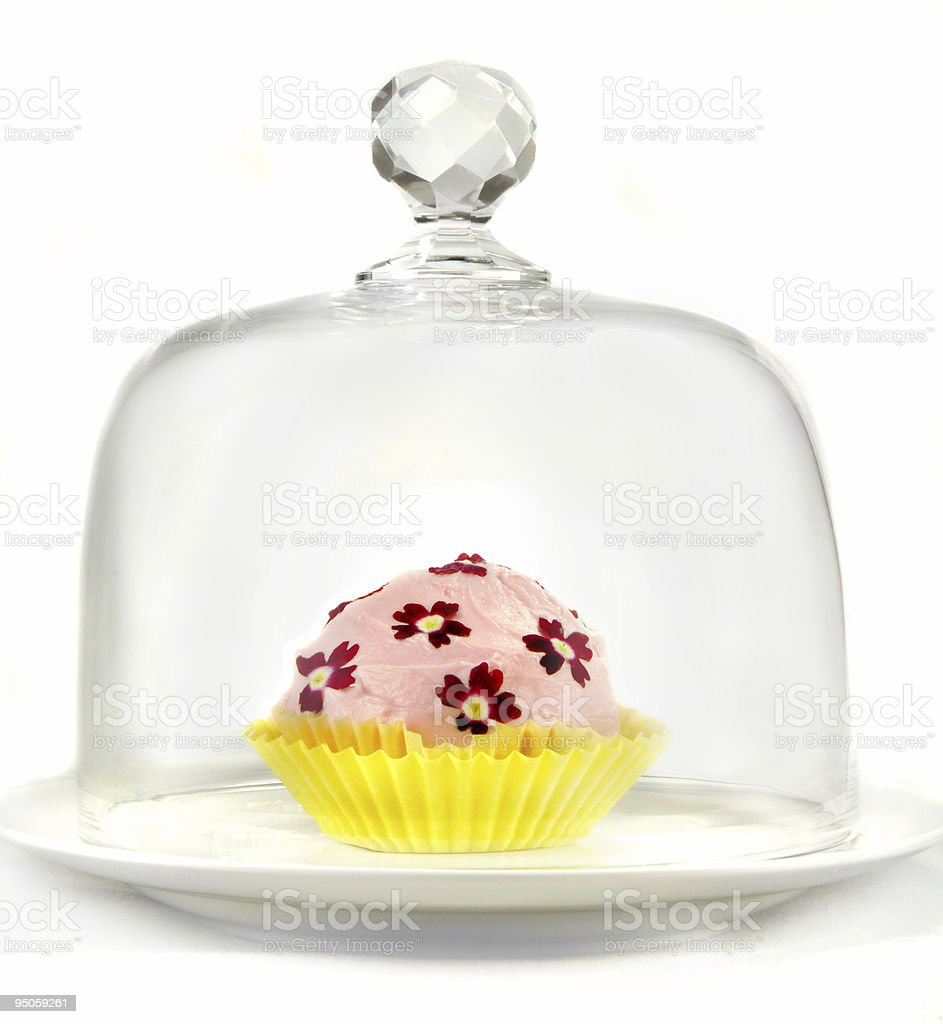 Cupcake Under Glass royalty-free stock photo