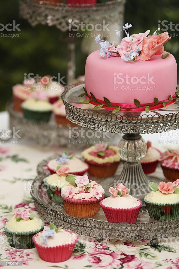 Cupcake Wedding Cake royalty-free stock photo
