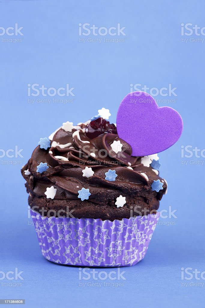 Cupcake with a heart shape royalty-free stock photo