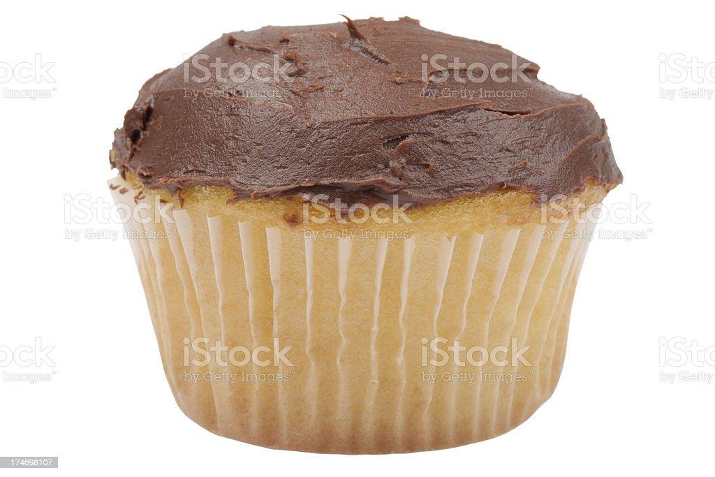 cupcake with chocolate icing (XXXL) royalty-free stock photo