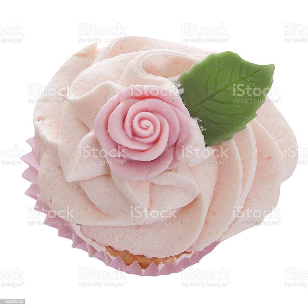 Cupcake With Frosting Isolated With Clipping Path royalty-free stock photo