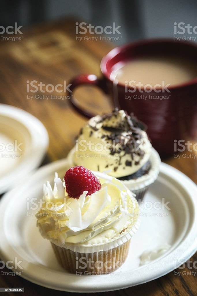 Cupcakes and Tea royalty-free stock photo
