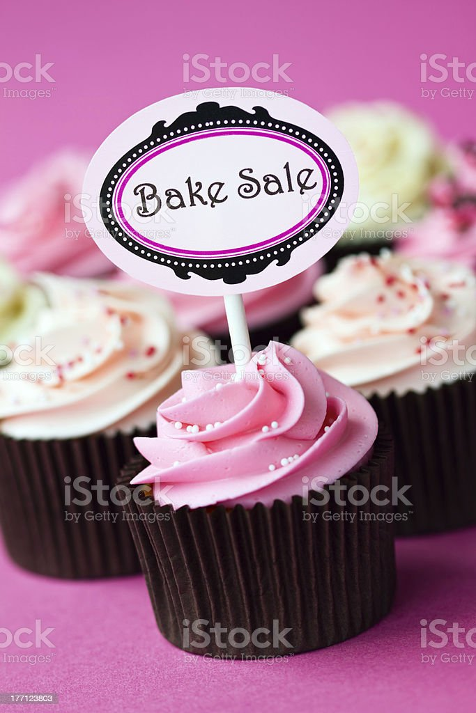 Cupcakes for a bake sale stock photo
