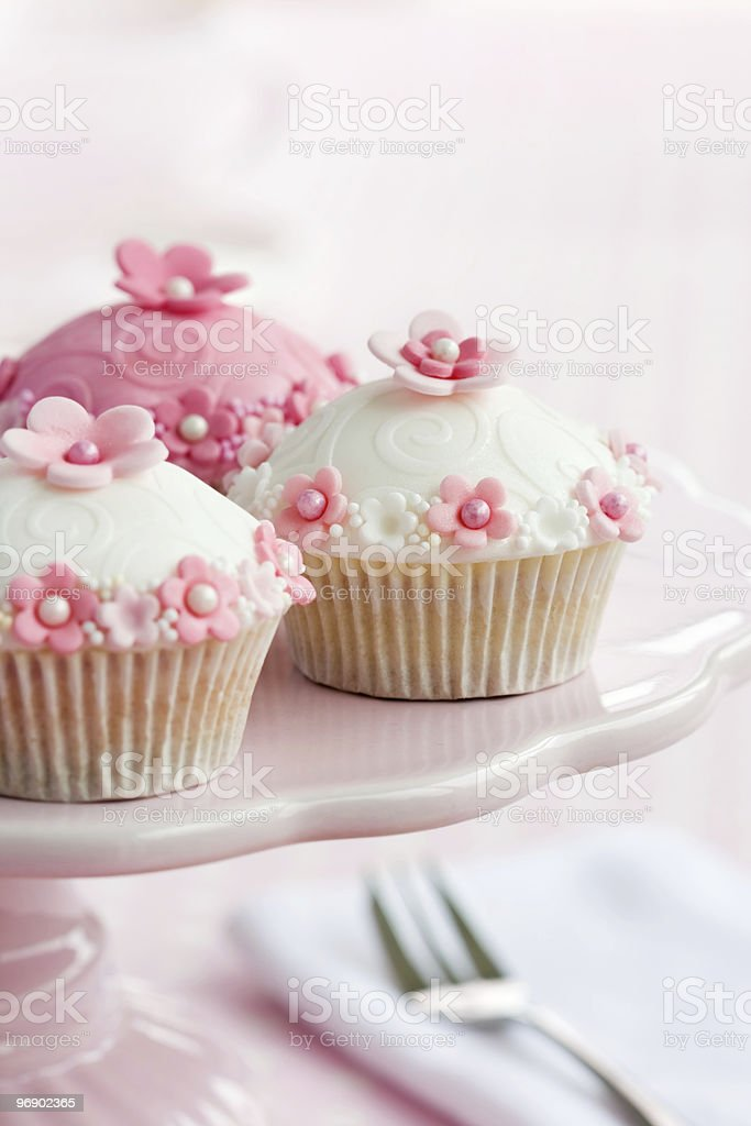 Cupcakes on a cakestand royalty-free stock photo