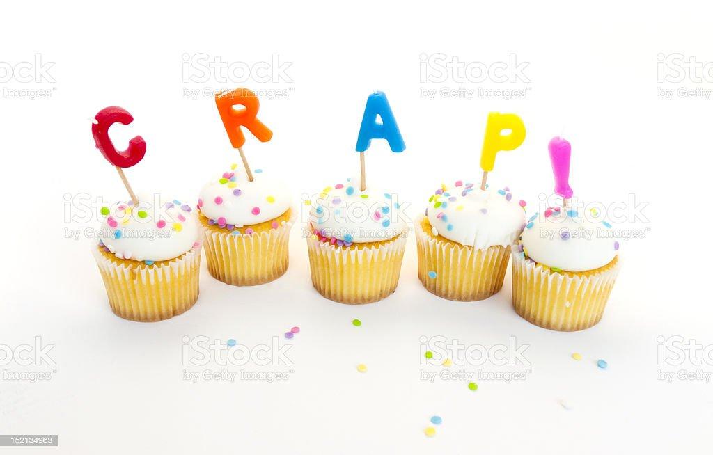 CRAP! Cupcakes royalty-free stock photo