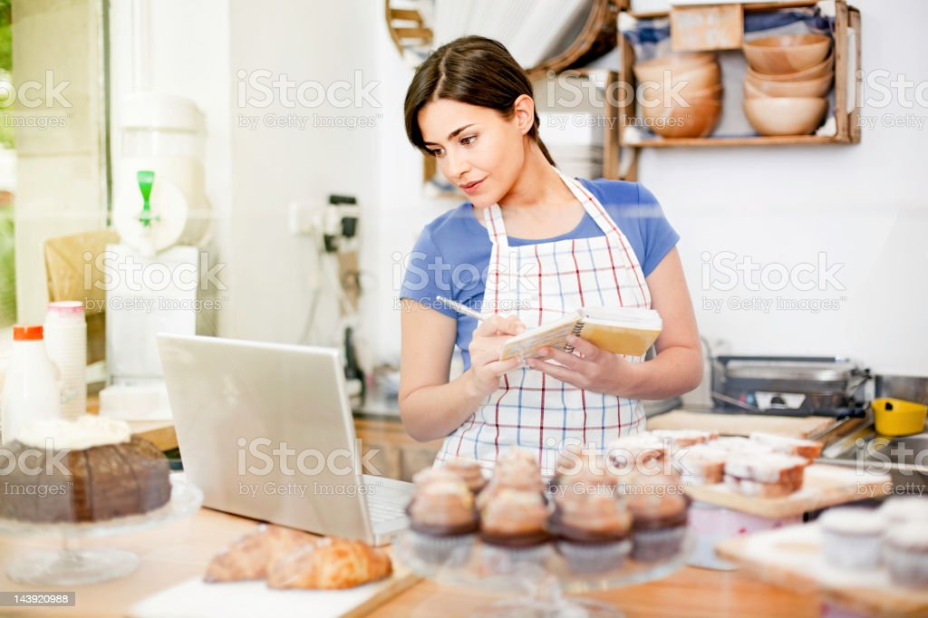 Cupcakes store planning royalty-free stock photo