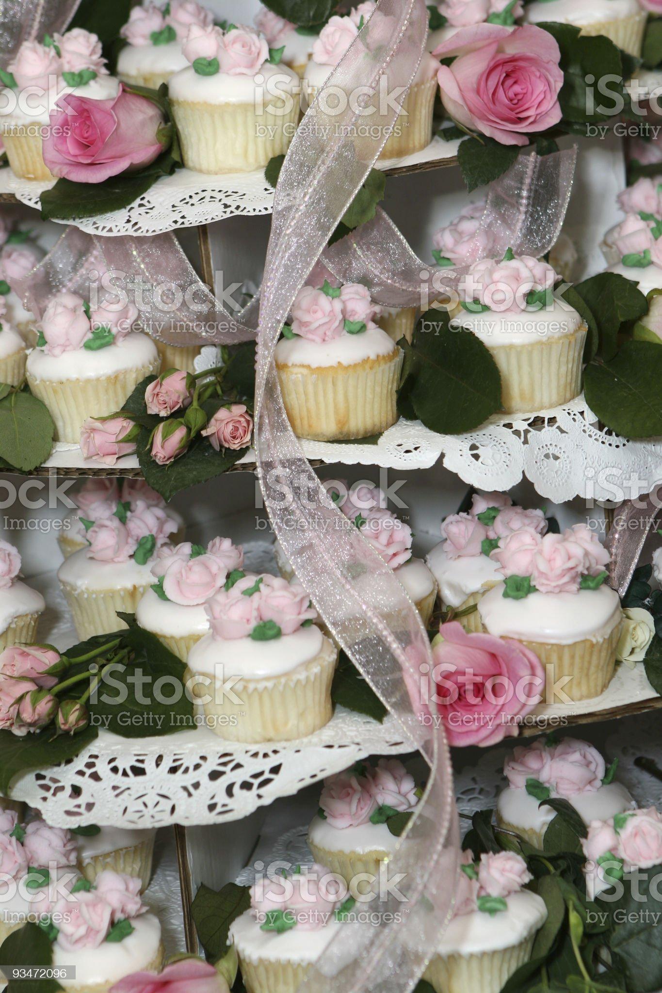 Cupcakes - wedding royalty-free stock photo
