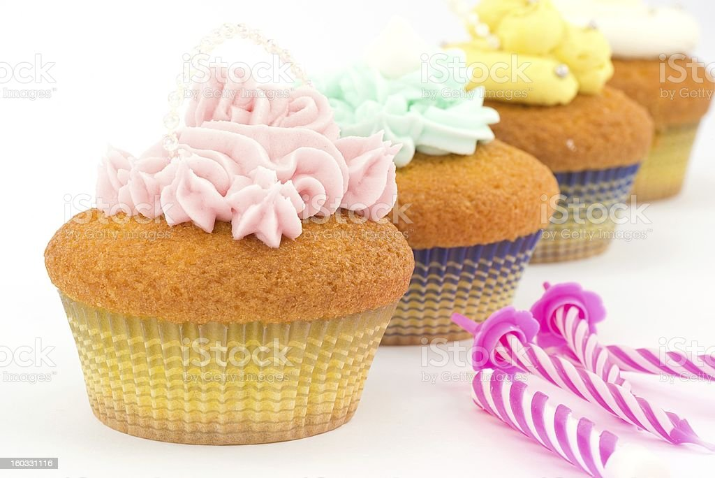 cupcakes with buttercream royalty-free stock photo