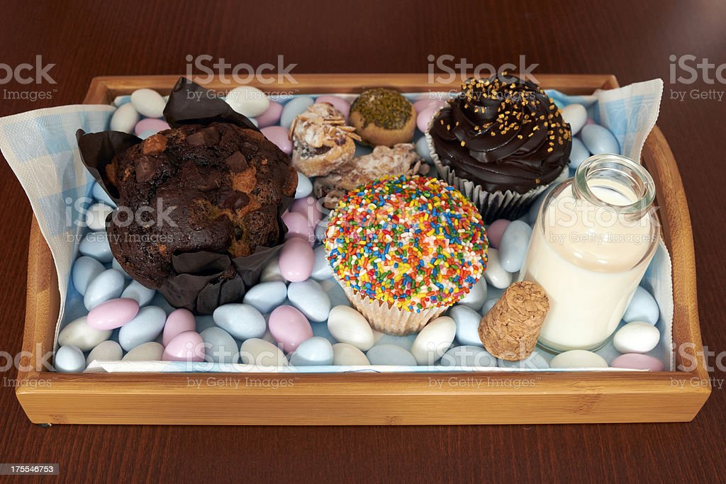 Cupcakes with candy royalty-free stock photo