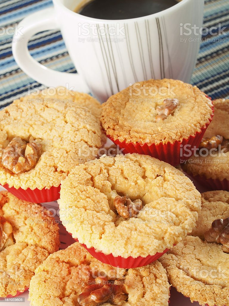 Cupcakes with cup of coffee royalty-free stock photo