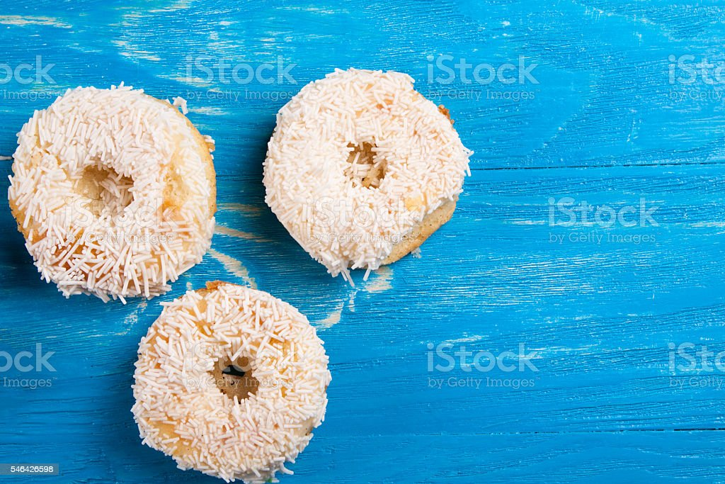 Cupcakes with frosting on the boards. stock photo