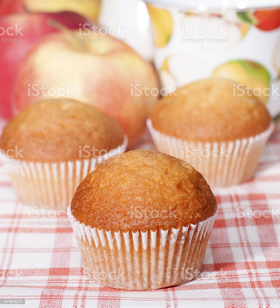 Cupcakes with fruit filling. royalty-free stock photo