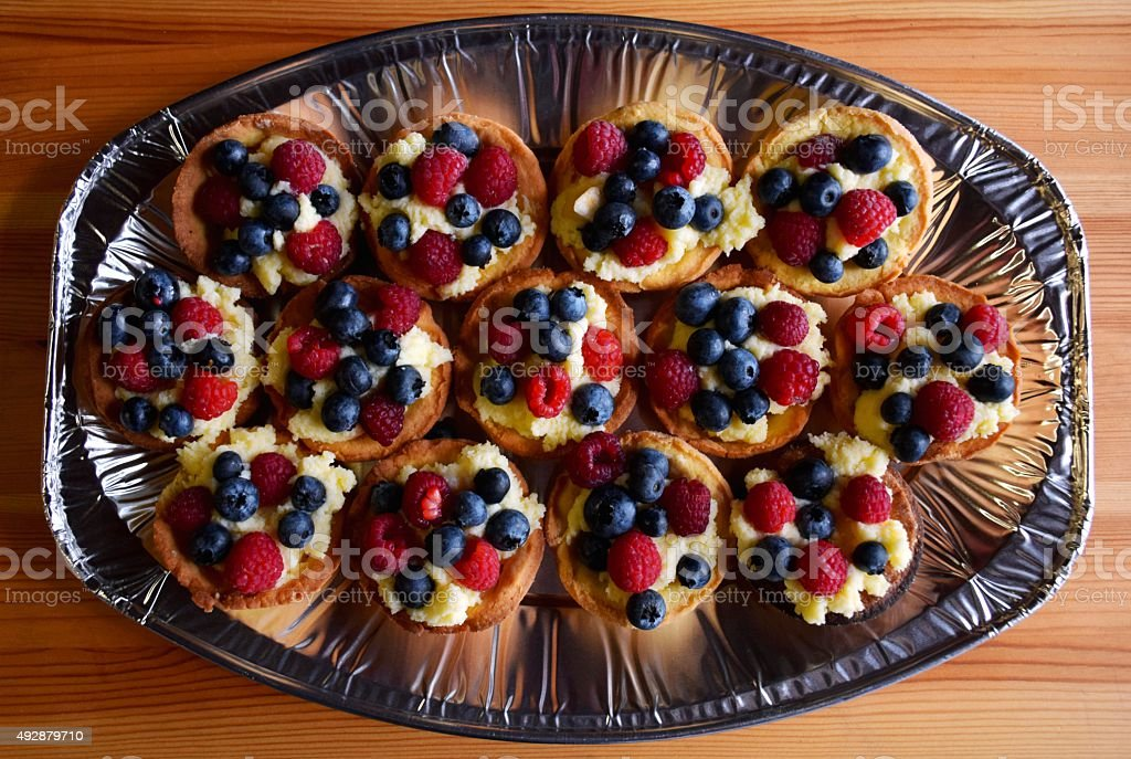 Cupcakes with fruits stock photo