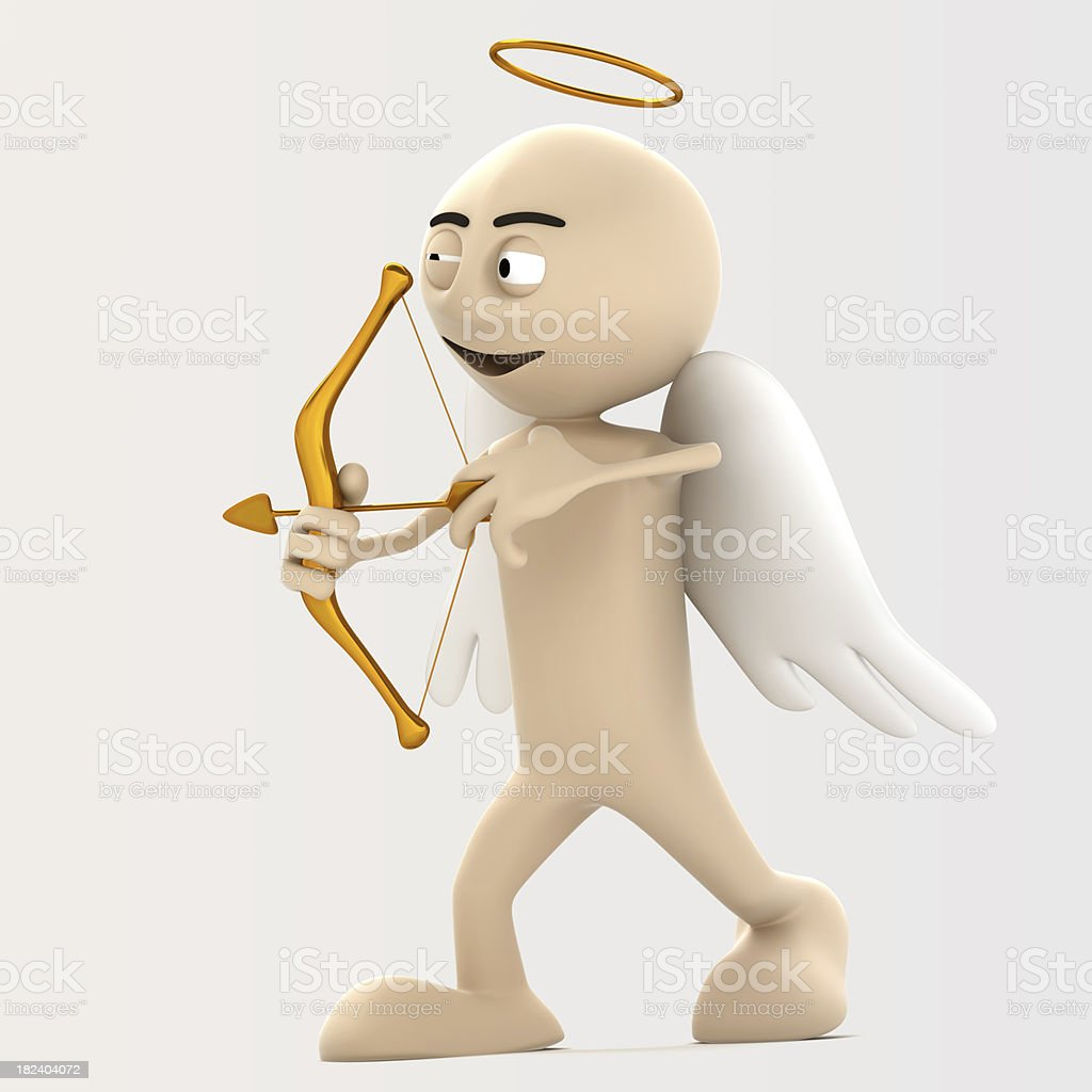 Cupid archery royalty-free stock photo