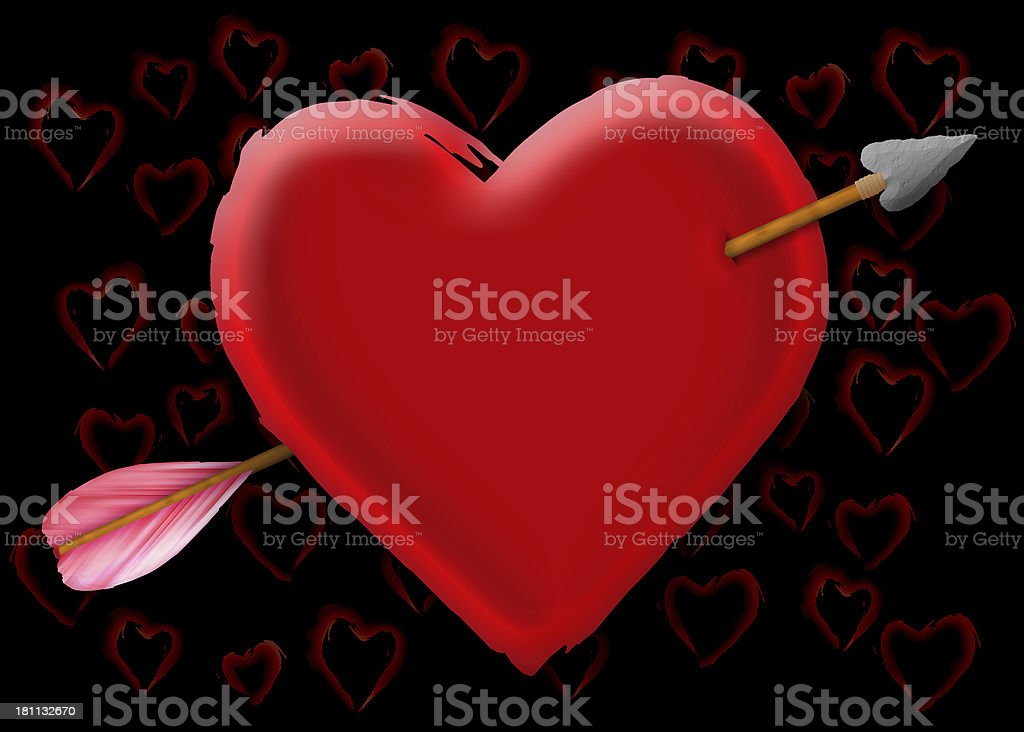Cupid Targets My Heart stock photo