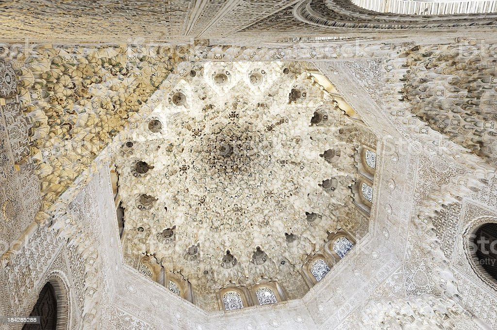 Cupola in Nasrid Palace, Alhambra, Spain stock photo