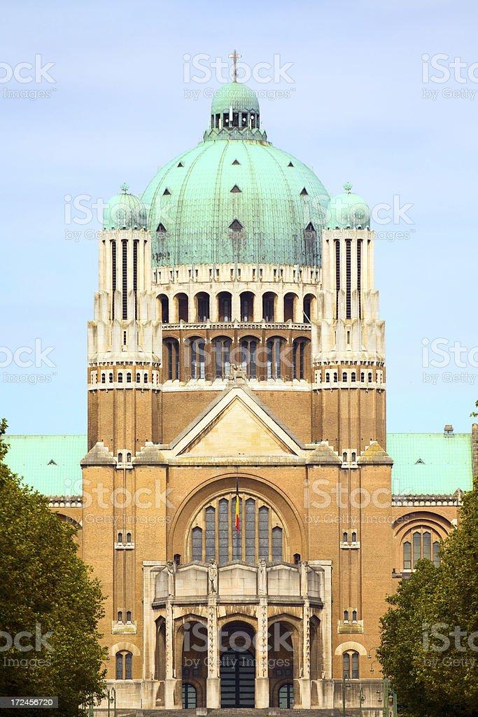 Cupola of Basilique Nationale du Sacr?-C?ur royalty-free stock photo