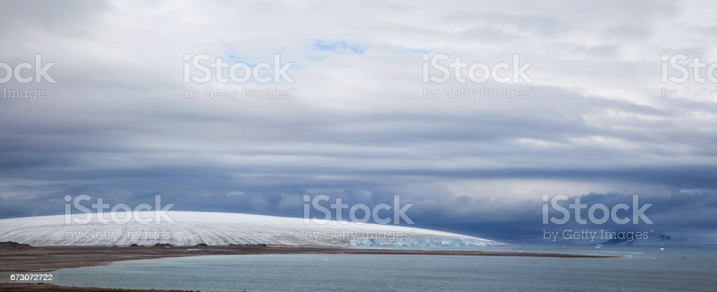 Cupola of glacier stock photo