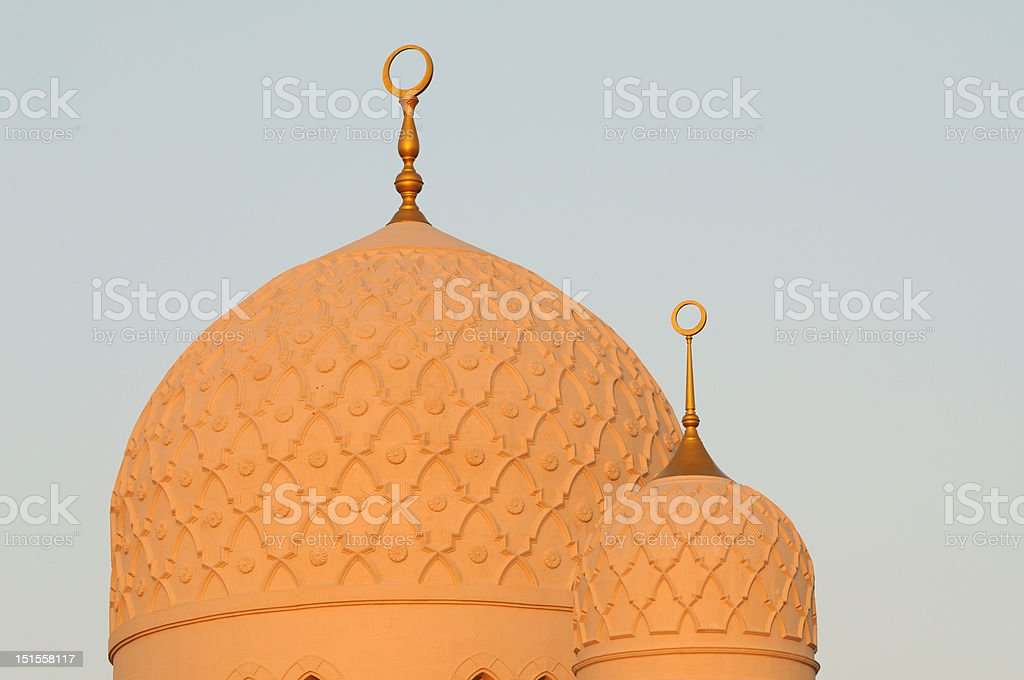 Cupola of Grand Mosque, Dubai stock photo