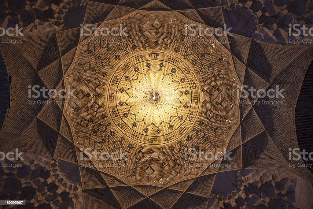 Cupola of Imam mosque in Kerman stock photo