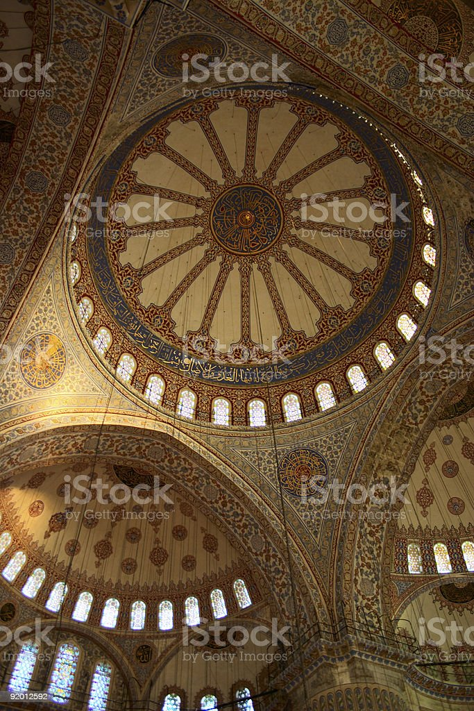 cupola of mosque with tile stock photo