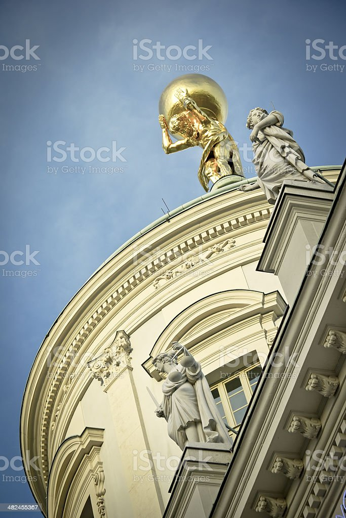Cupola of Old Town Hall stock photo