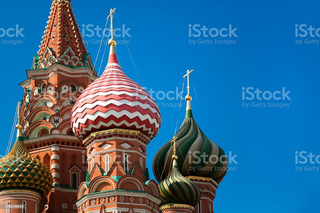Cupola of Saint Basil's Cathedral in Moscow, Russia (XXXL) stock photo