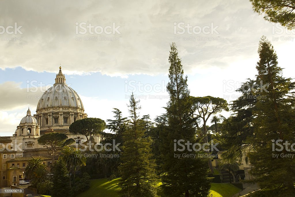 Cupola of St. Peter's Basilica royalty-free stock photo