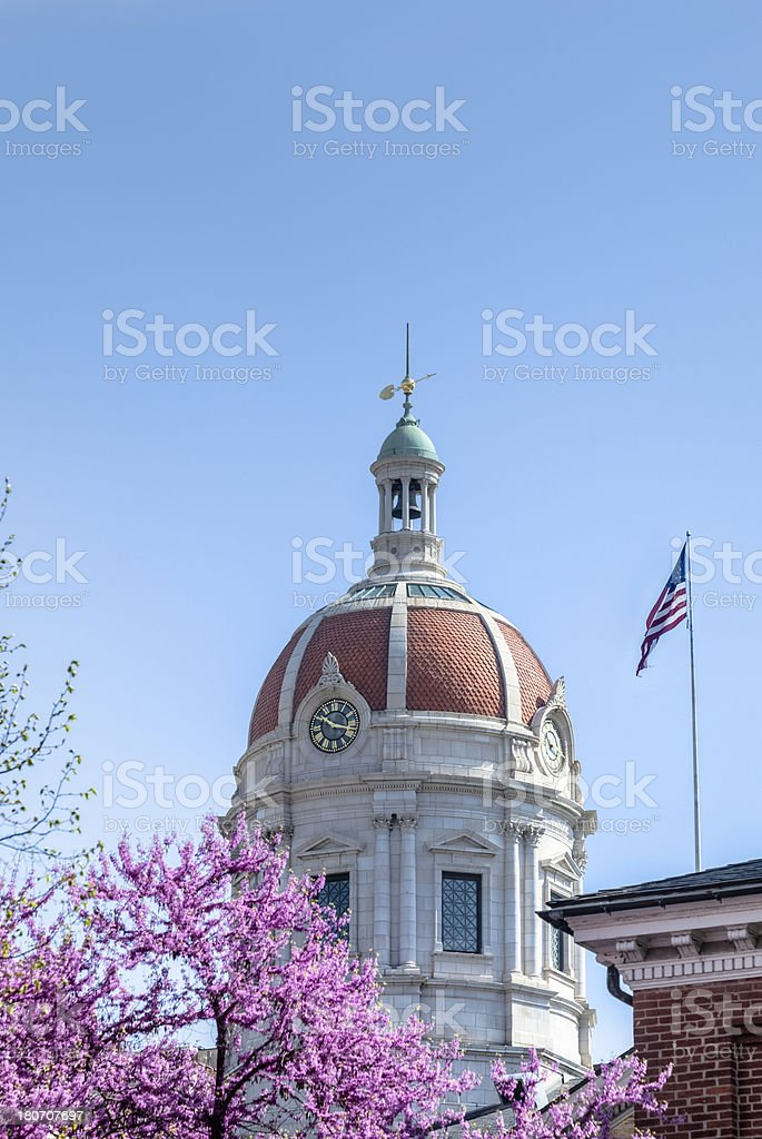 Cupola on the Old York County Court House royalty-free stock photo