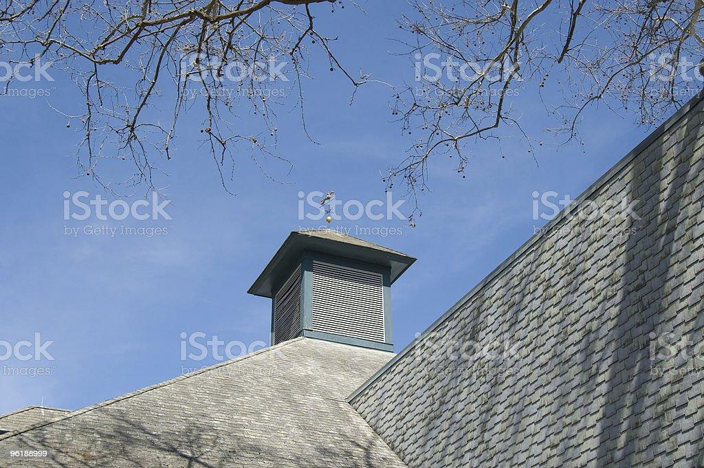 Cupola with Weathervane on Kentucky Barn stock photo