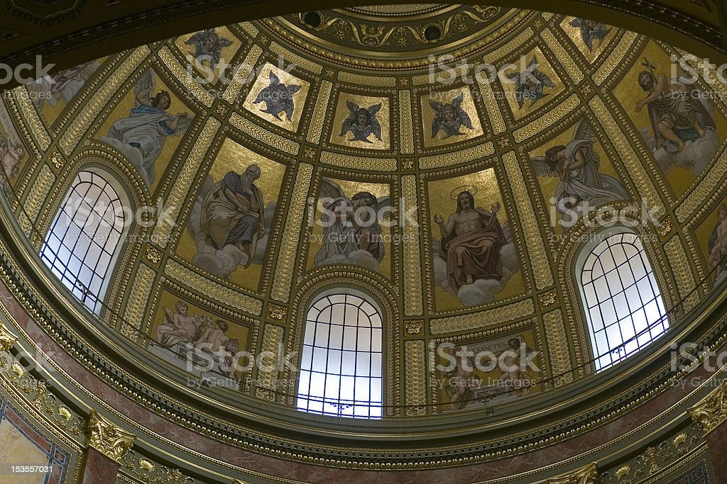 Cupola with windows royalty-free stock photo